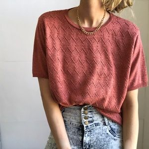 Vintage Apple Textured Knit Tee